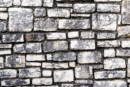 grooved: the rough grooved textured surface of a stone wall for a vintage background or for wallpaper Stock Photo