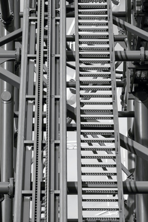 metal monochrome: metal design or structure of a construction for an abstract industrial background of monochrome tone