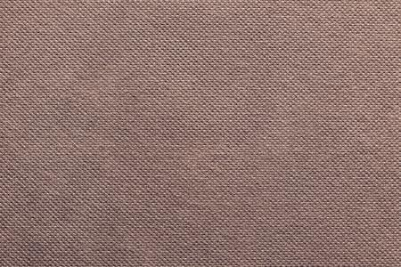 grooved: the grooved textured design of fabric with pile for the abstract background and for wallpaper of terracotta color Stock Photo