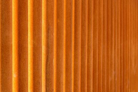 vague: indistinct texture of rusty iron pipes of red color for a background Stock Photo
