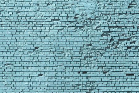 corrugate: old blue brick wall for the vintage textured background or for wallpaper on the display