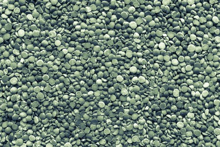 fraction: background and texture of dried shredded peas of monochrome tone of green color
