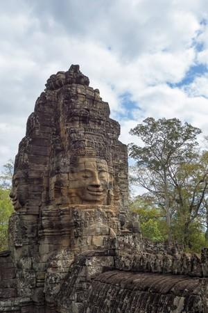 Cambodia a fragment of a wall historical the building or the temple with ancient engravings and drawings Stock Photo