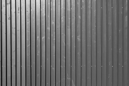 silvery: background and corrugated texture of the wall panel from boards monochrome silvery tone Stock Photo
