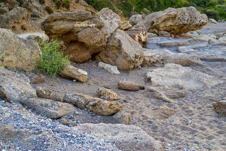 abstract stony and sandy wild landscape closeup