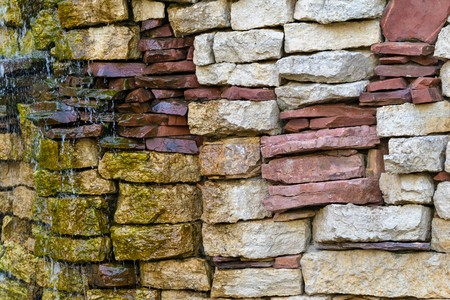 background texture: stone brick wall with water splashes for the abstract textured background