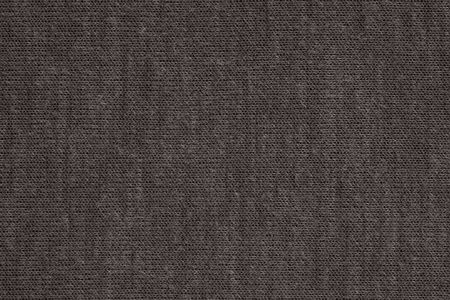 texture of textile material or jersey closeup for a monotonous background or for wallpaper of fashionable black morel color Stock Photo
