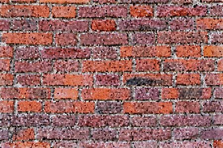 mosaic brick texture of motley color for a background or for wallpaper 写真素材