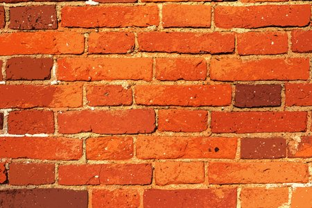 corrugated brick texture of orange color for a background or for wallpaper 写真素材 - 119288023