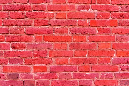 corrugated brick texture of bright scarlet color for a background or for wallpaper 写真素材 - 120336209