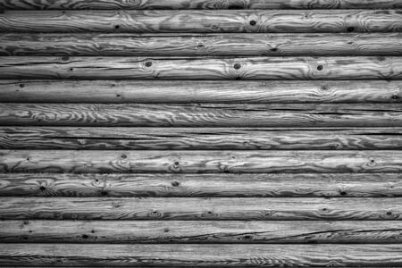 wooden texture of a timbered wall closeup for a natural background of monochrome tone Stok Fotoğraf