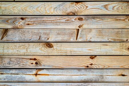 Texture of wooden boards arranged in parallel rows for background or for wallpaper.