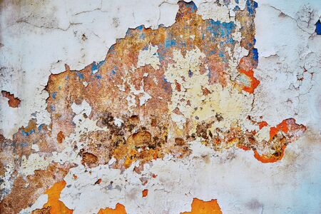 abstract texture of old and ruined plastered surface for background or wallpaper