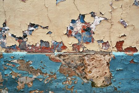 texture of weathered and ruined plastered surface for abstract background or wallpaper Banco de Imagens