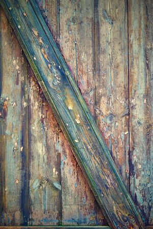 abstract multicolored texture of old wooden planks for background or wallpaper