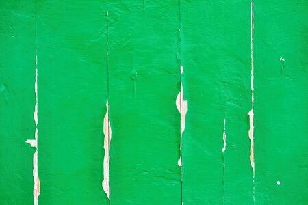 old painted wood board surface green for background or for wallpaper