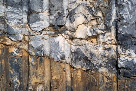 Abstract texture cut of marble stone rock for background closeup