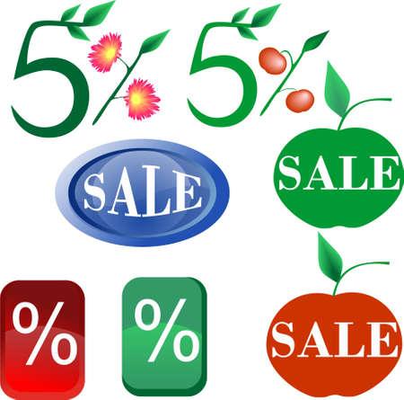 sale percent button web icon