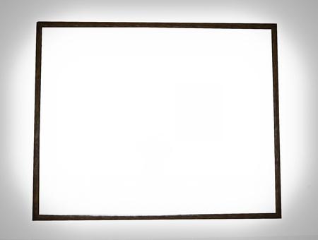 Big thin wood frame Stock Photo - 17286358