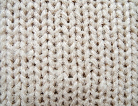 closeup of knitted fabric texture photo