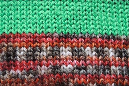 Knitted fabric - macro of a woolen texture photo