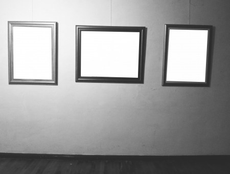 Black and white frame on wall photo