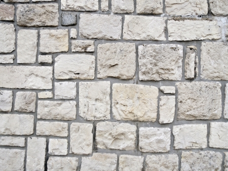 White stone wall photo