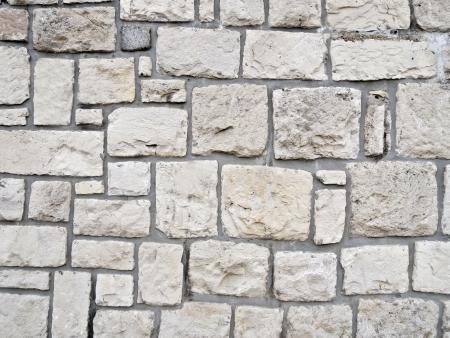 brick clay: White stone wall