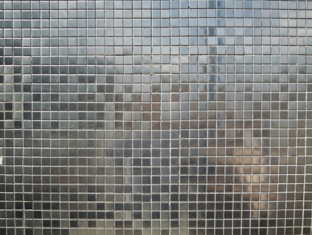 Silver tiles background photo