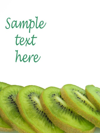 Isolated kiwi with sample text here photo