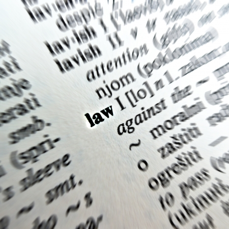 pronounce: Law word in dictionary