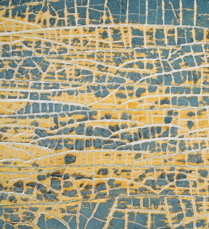 Yellow painted weathered  texture. photo