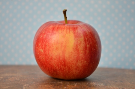 Apple on old book photo