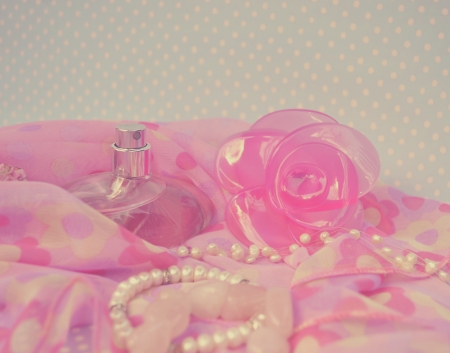 Beautiful vintage parfume photo