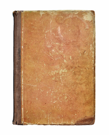 Il libro antico isolato su sfondo bianco
