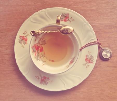 Vintage tea time  版權商用圖片