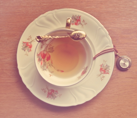 Vintage tea time  Stock Photo