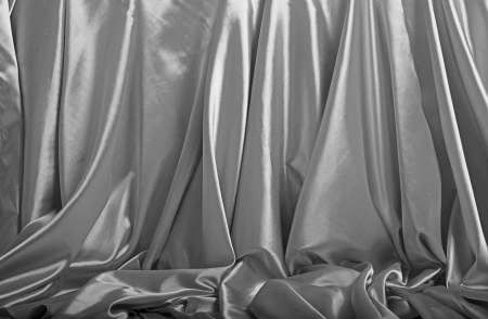 Silver silk background photo