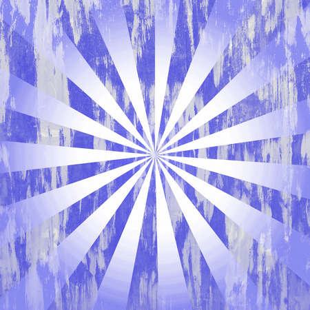 Blue distressed rays background photo
