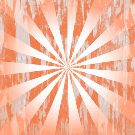 Orange distressed rays background photo