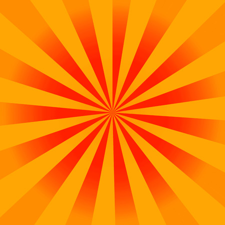 Vintage orange rays background photo