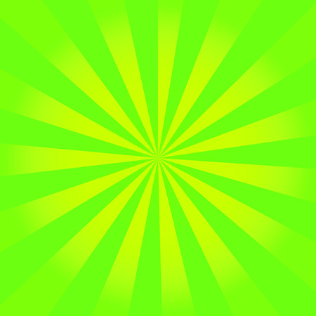 Vintage green and yellow rays background photo