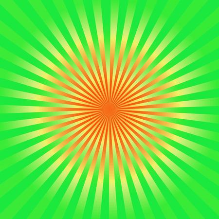 Green and yellow sunburst  background