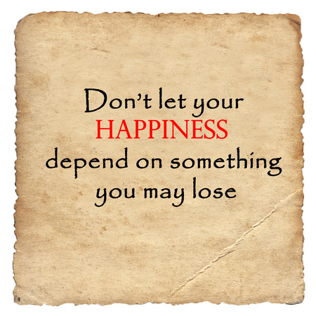 depend: Inspirational motivating quote on old paper background Stock Photo