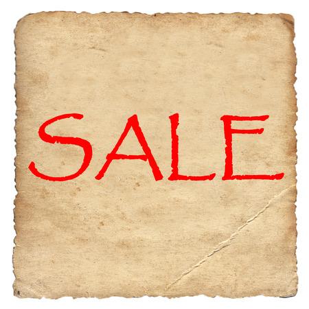 labor market: Sale on old paper background