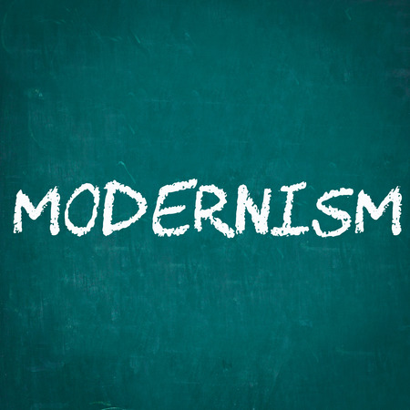 MODERNISM written on chalkboard Stock Photo