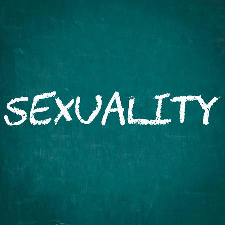 sexualidad: SEXUALIDAD escrita en la pizarra