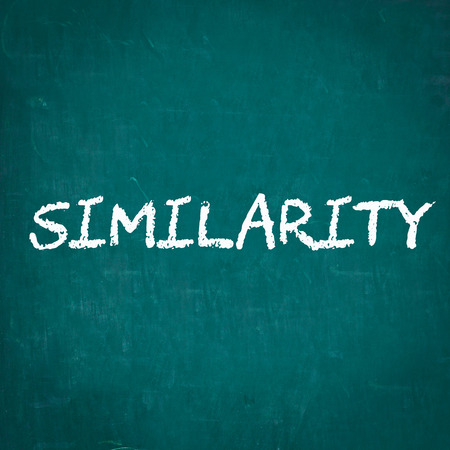 similarity: SIMILARITY written on chalkboard