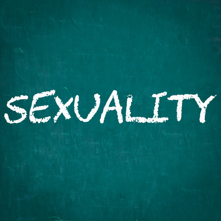 sexuality: SEXUALITY written on chalkboard Stock Photo