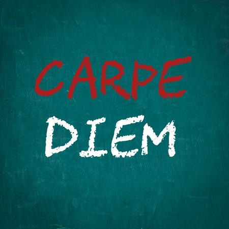 carpe diem: CARPE DIEM written on chalkboard